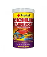 Tropical Cichlid Carnivore Small Pellet 1000 ml.